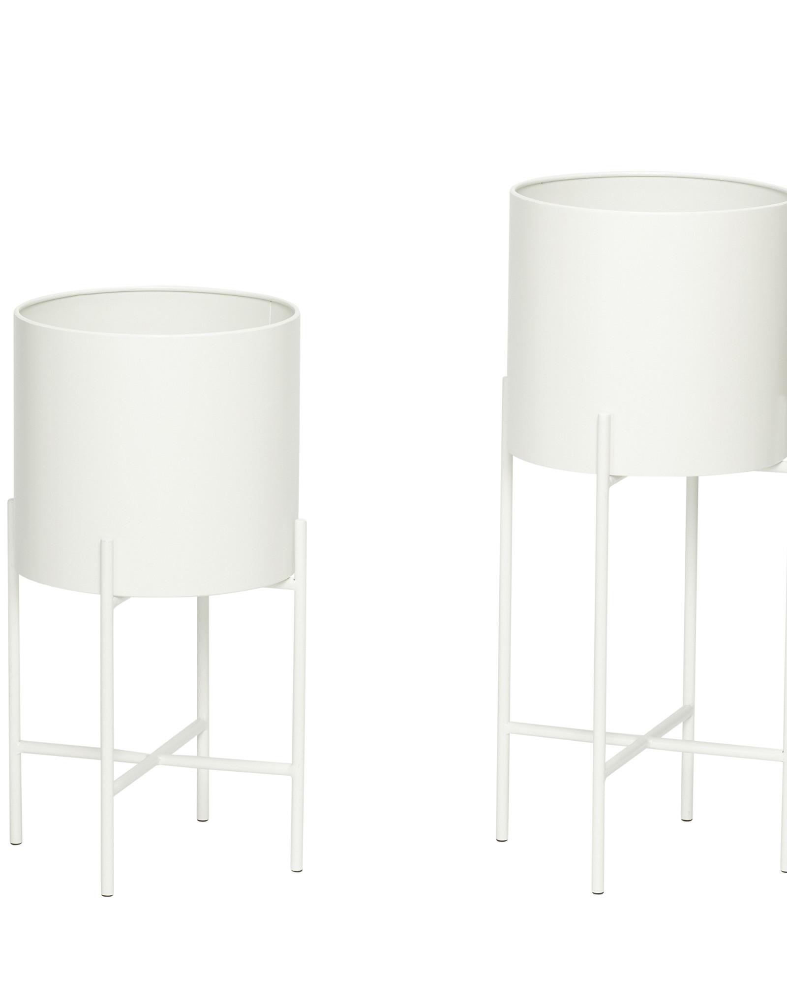 Hübsch White Pot w/ legs ø25xh45