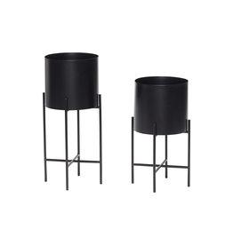 Hübsch Zwarte pot op poten Ø23 h55