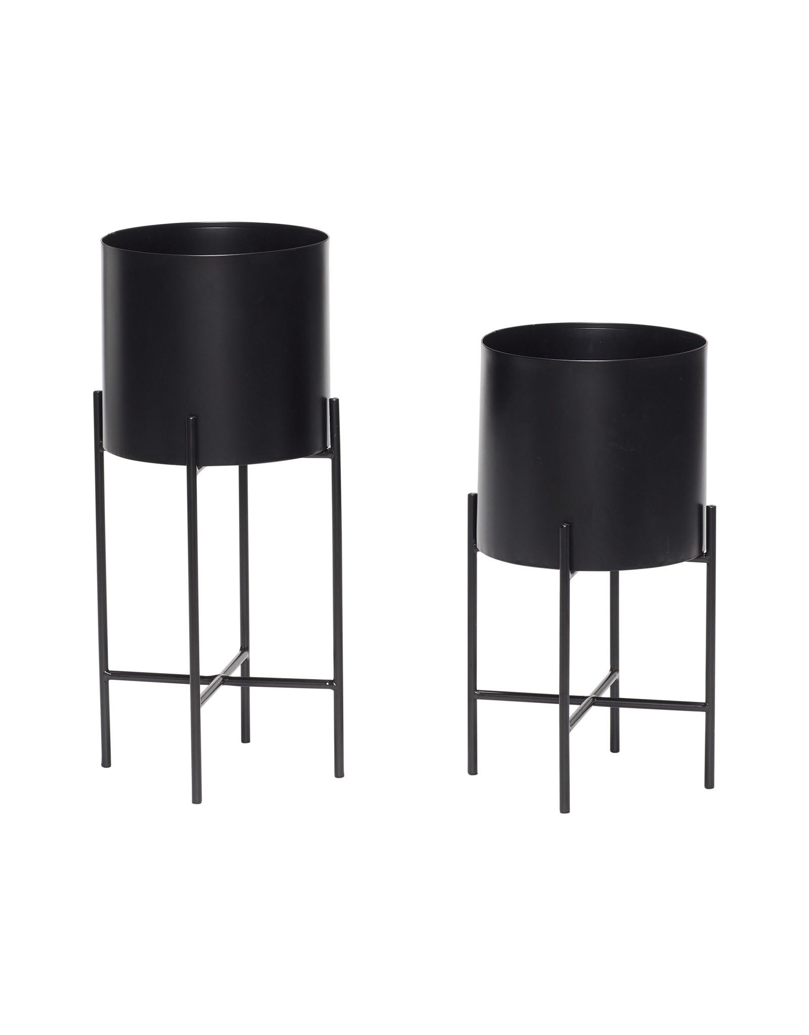 Hübsch Black Pot w/ legs ø23xh45