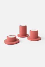 House Raccoon Portia Tealight Holders (3x) - Pomegranate