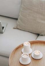 House Raccoon Portia Tealight Holders (3x) - White Marble