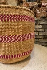 Hadithi Basket M - fuchsia by Nduku