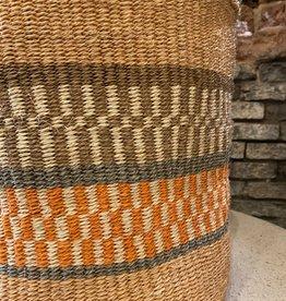 Hadithi Basket L - grey & orange by Julia