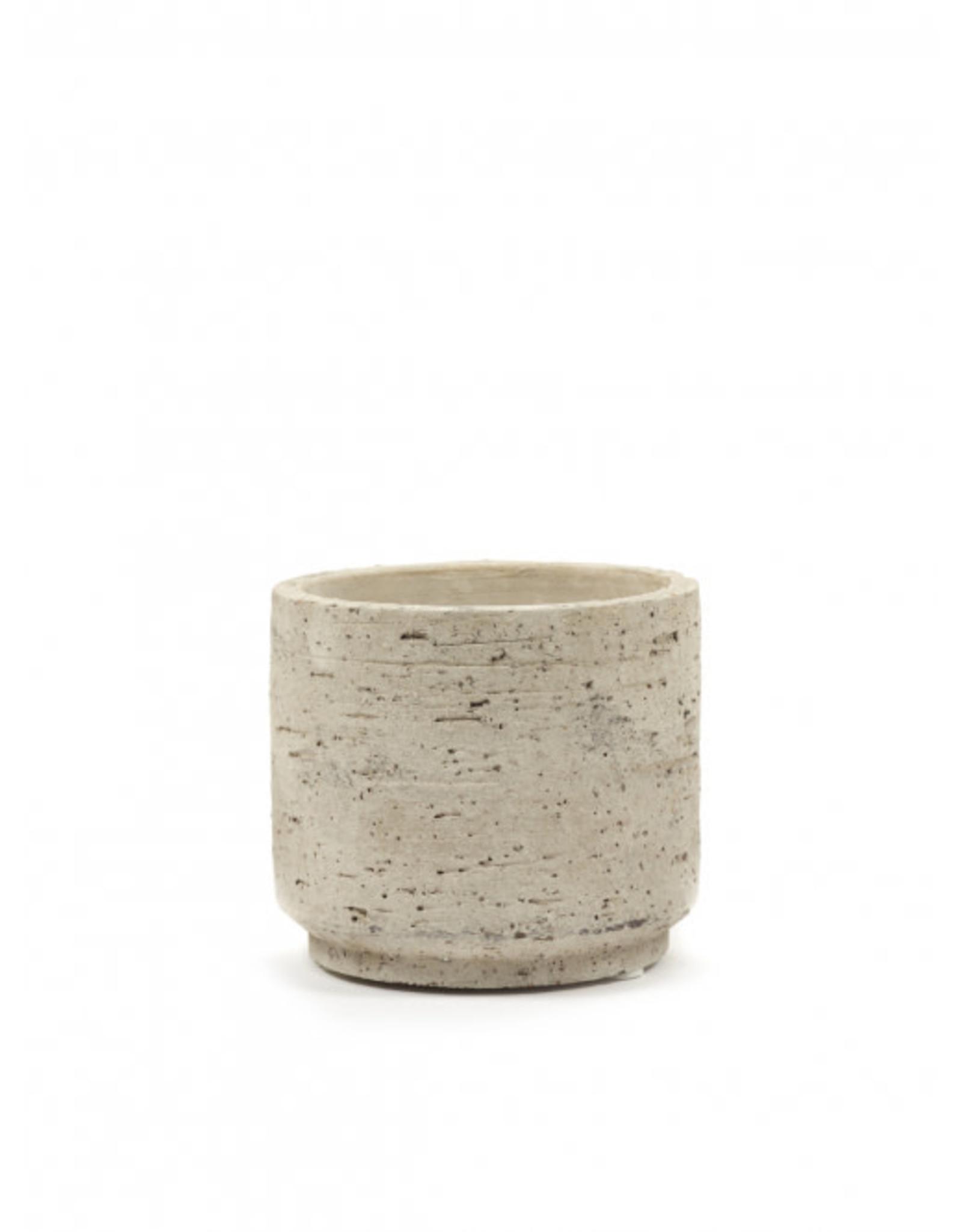 Sandy pot Ø12 h13 cm