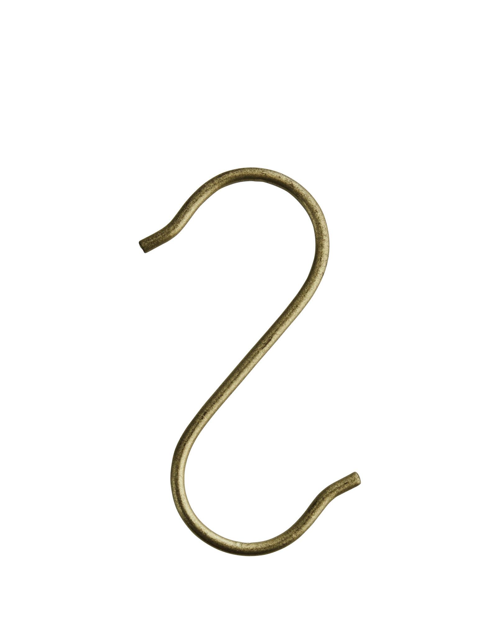 Madam Stoltz S-hook 8,5x4 cm - Iron - Brass [S]