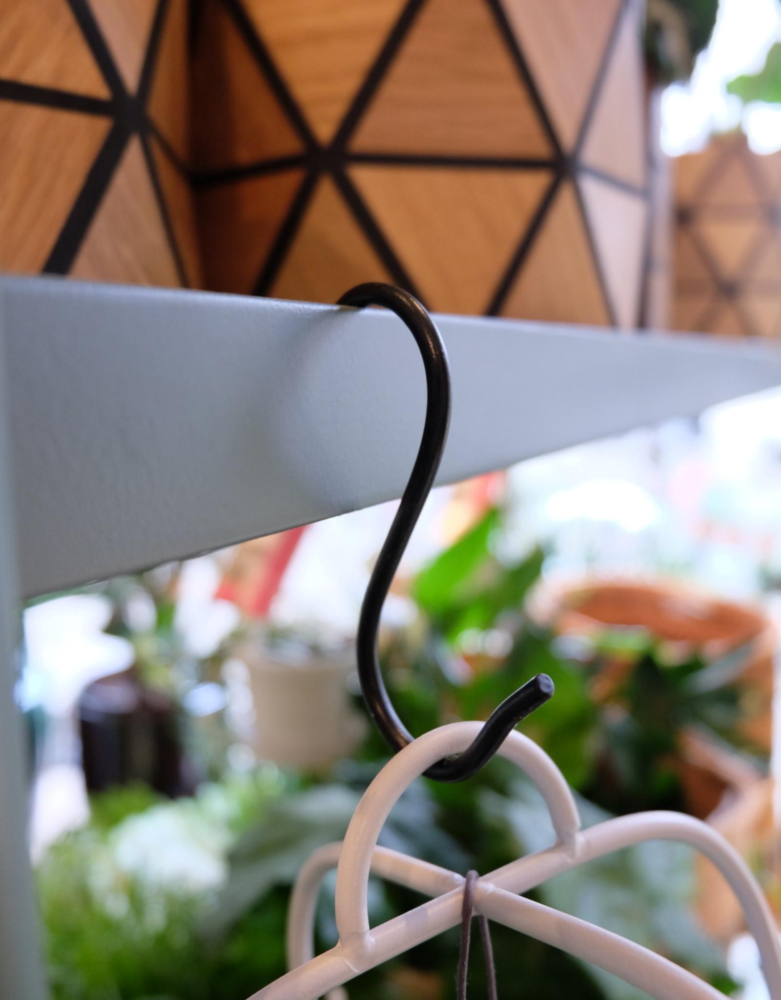Madam Stoltz S-hook 11,5x4,5 cm - Black