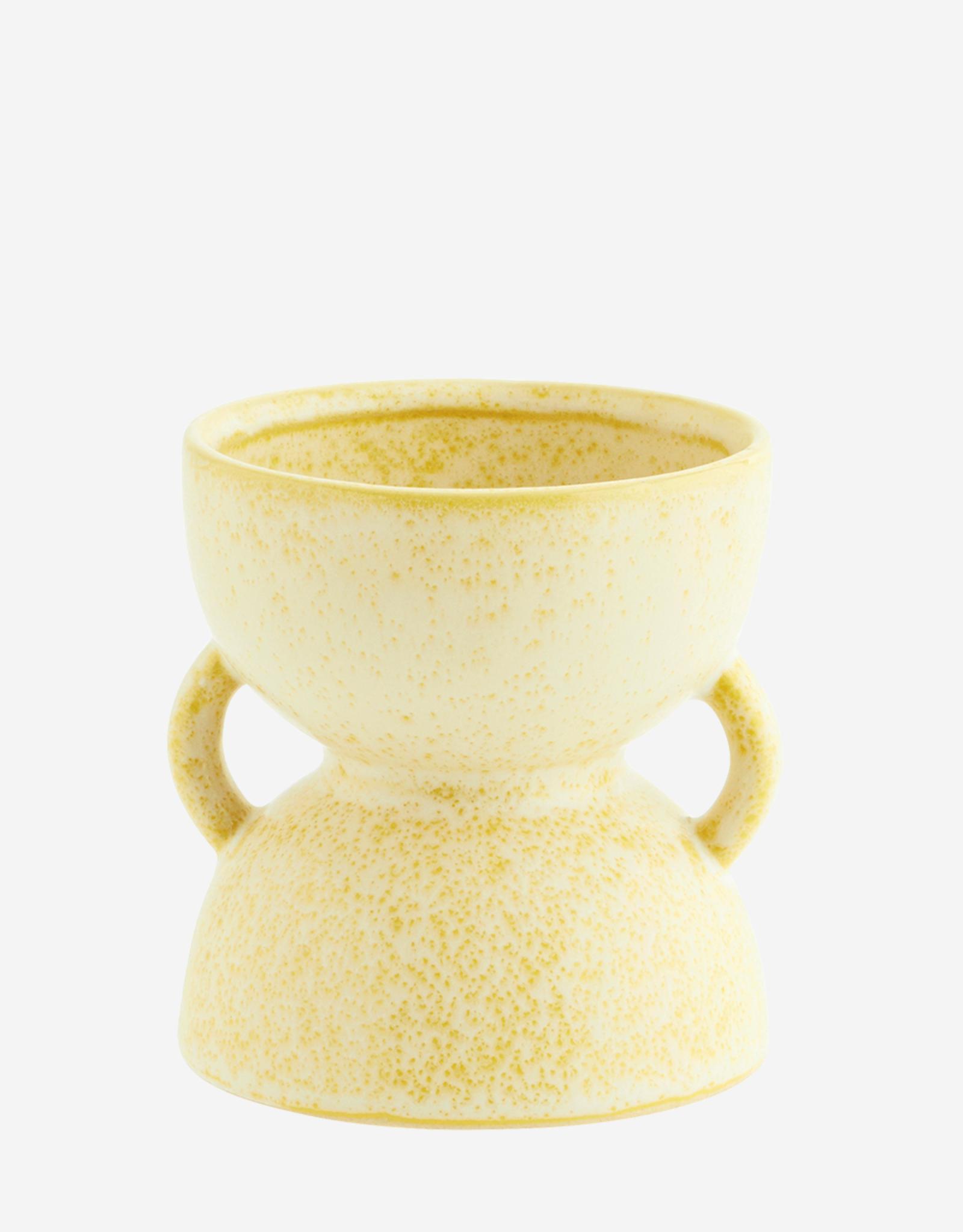 Madam Stoltz Flowerpot Ø8.5 h11 cm - lemon sorbet