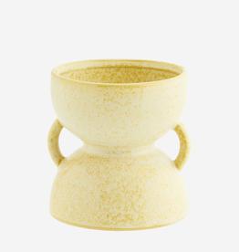 Madam Stoltz Flowerpot Ø10 h12 cm - lemon sorbet