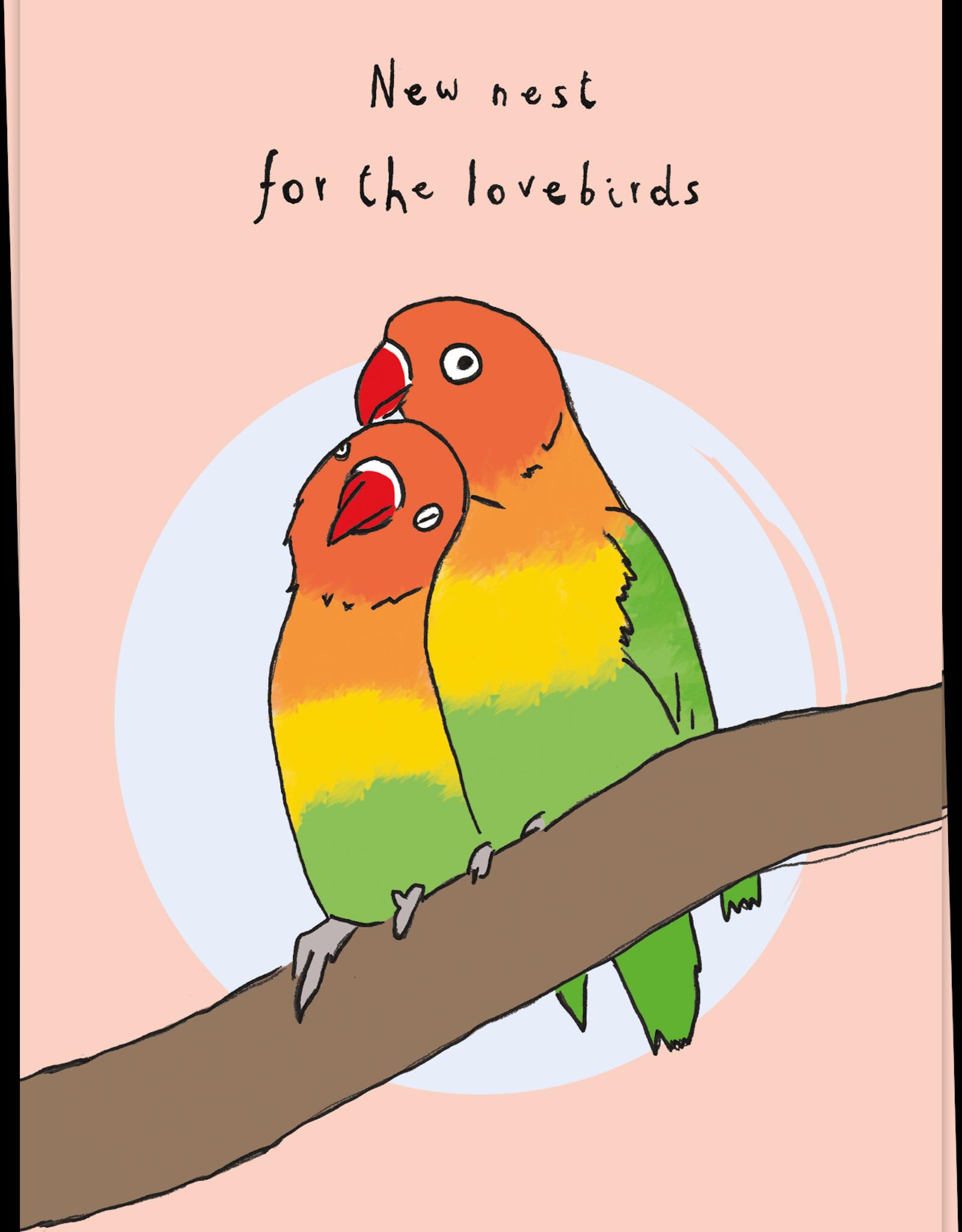 Kaart Blanche Lovebirds