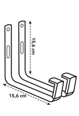 GRUUN Balcony Bracket Metal (Set of 2 pieces)