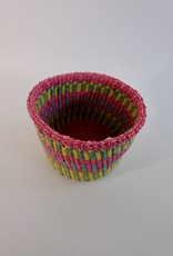 Solid Crafts Hadithi Basket XS - yellow, pink & blue by Halima