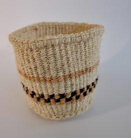 Solid Crafts Hadithi Basket XS - terracotta & black by Sarah