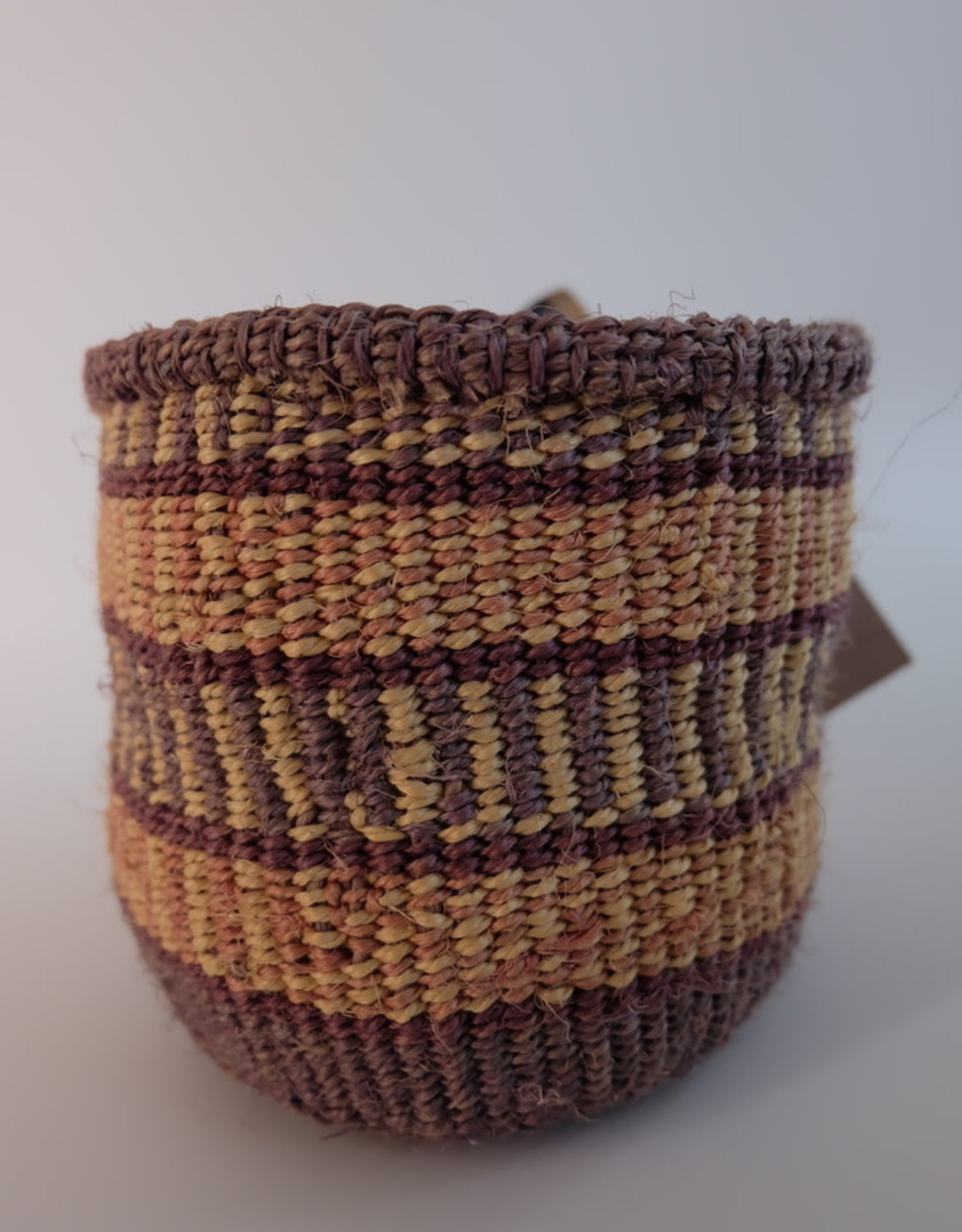 Solid Crafts Hadithi Basket XS - grey & purple by Pamela