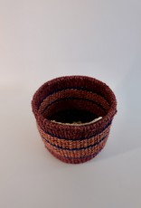Solid Crafts Hadithi Basket XS - blue & purple by Mueni
