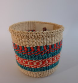 Solid Crafts Hadithi Basket XS - blue & orange by Topista