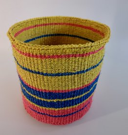 Solid Crafts Hadithi Basket S - yellow, pink & blue by Mercy