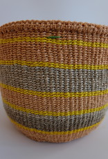 Solid Crafts Hadithi Basket S - yellow & grey by Fides