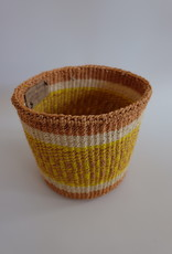 Solid Crafts Hadithi Basket S - white & yellow by Peris