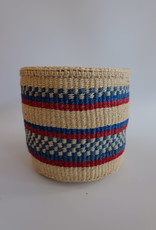 Solid Crafts Hadithi Basket S - red & blue by Unknown
