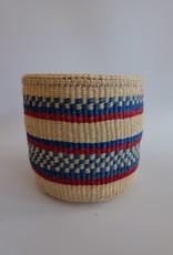 Solid Crafts Hadithi Basket S - red & blue