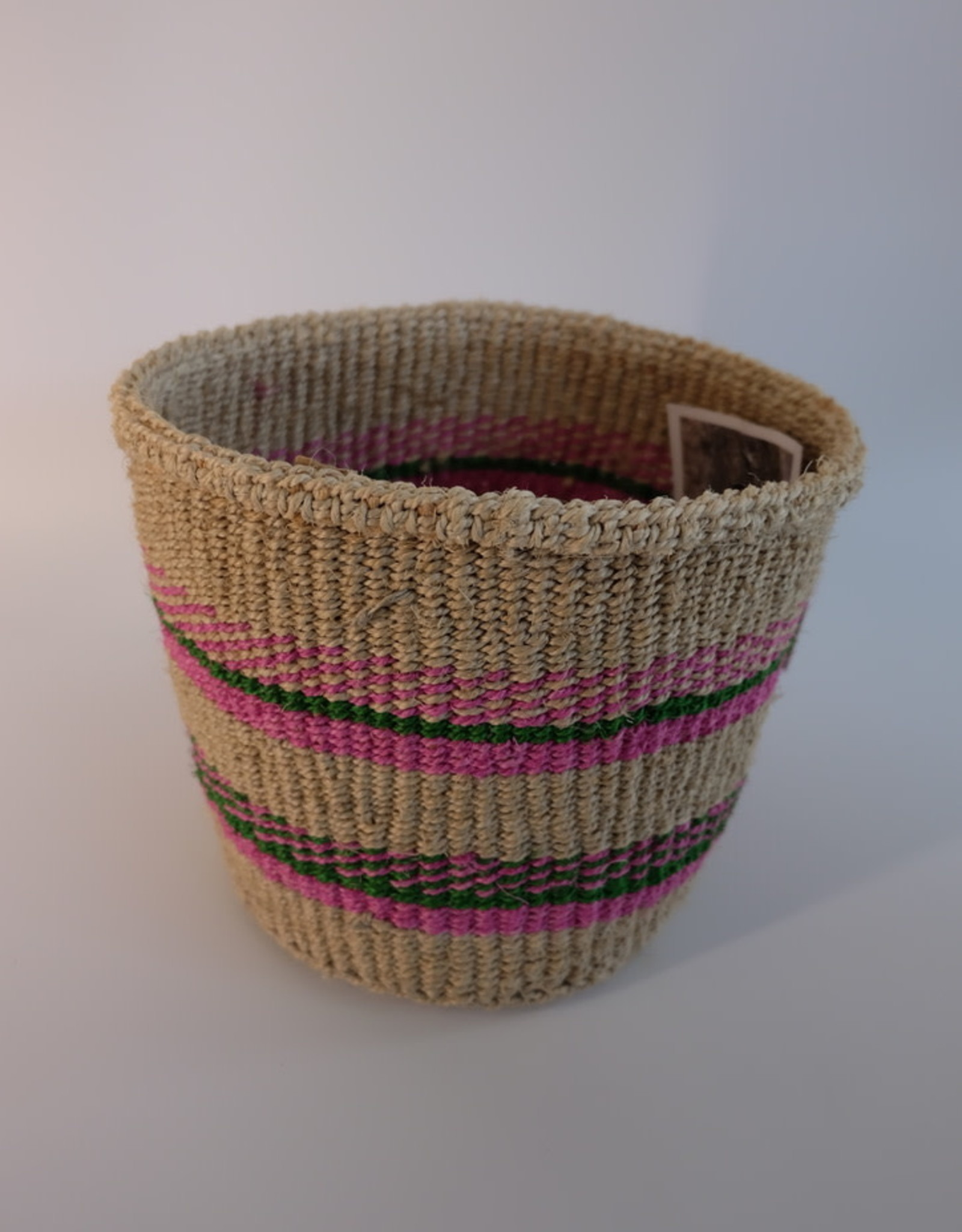 Solid Crafts Hadithi Basket S - pink & green by Mejumaa