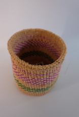 Solid Crafts Hadithi Basket S - pink & green by Christina
