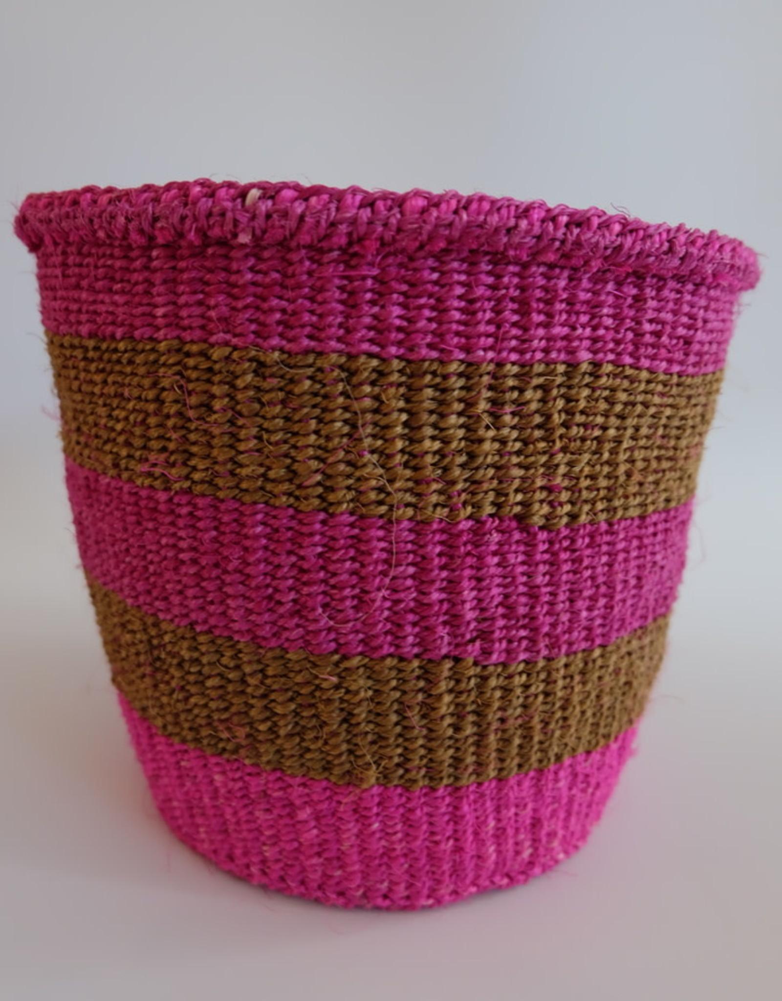 Solid Crafts Hadithi Basket S - pink & brown