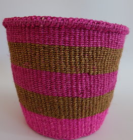 Solid Crafts Hadithi Basket S - pink & brown by Unknown