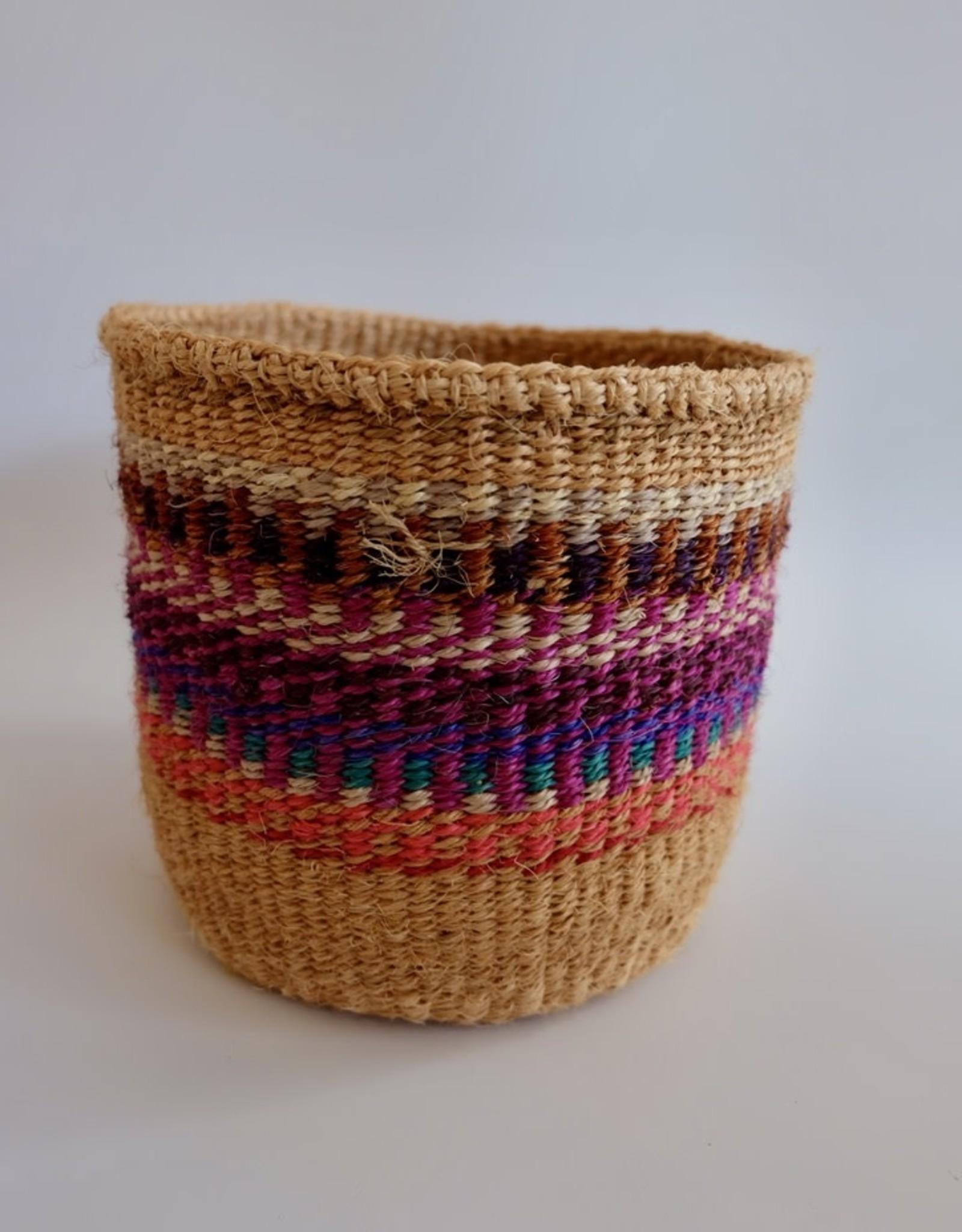 Solid Crafts Hadithi Basket S - pink & blue by Madeline