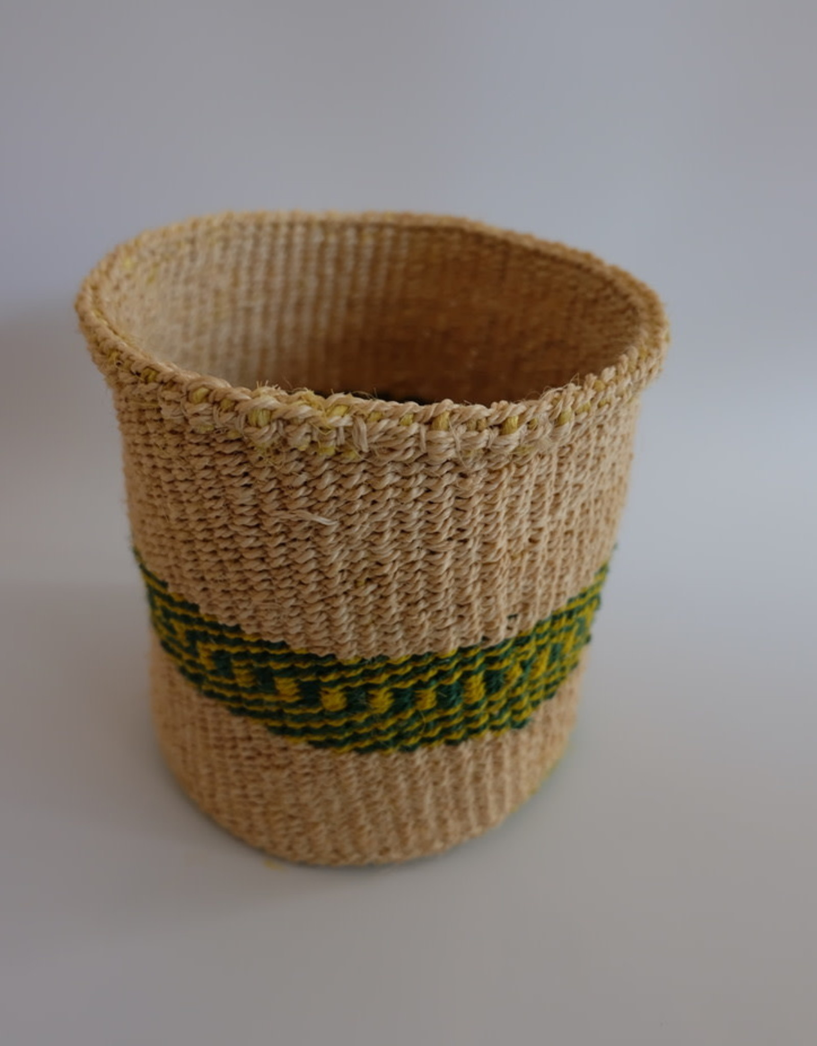 Solid Crafts Hadithi Basket S - green & yellow by Shally