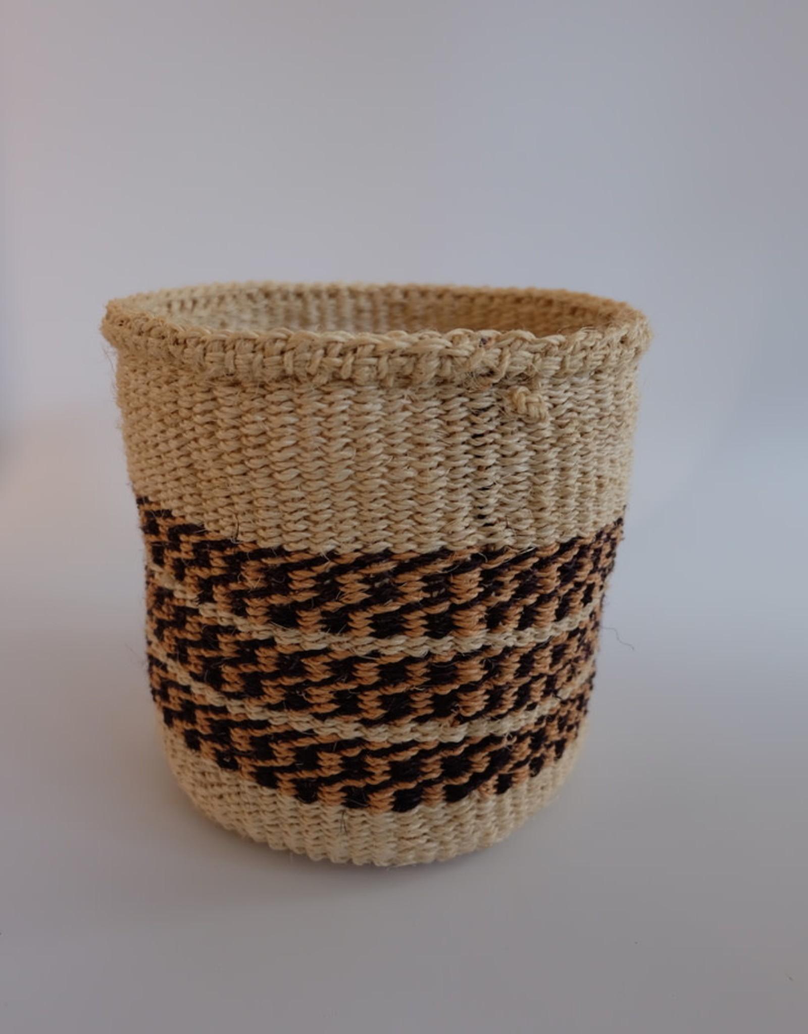 Solid Crafts Hadithi Basket S - black & brown by Anjeline