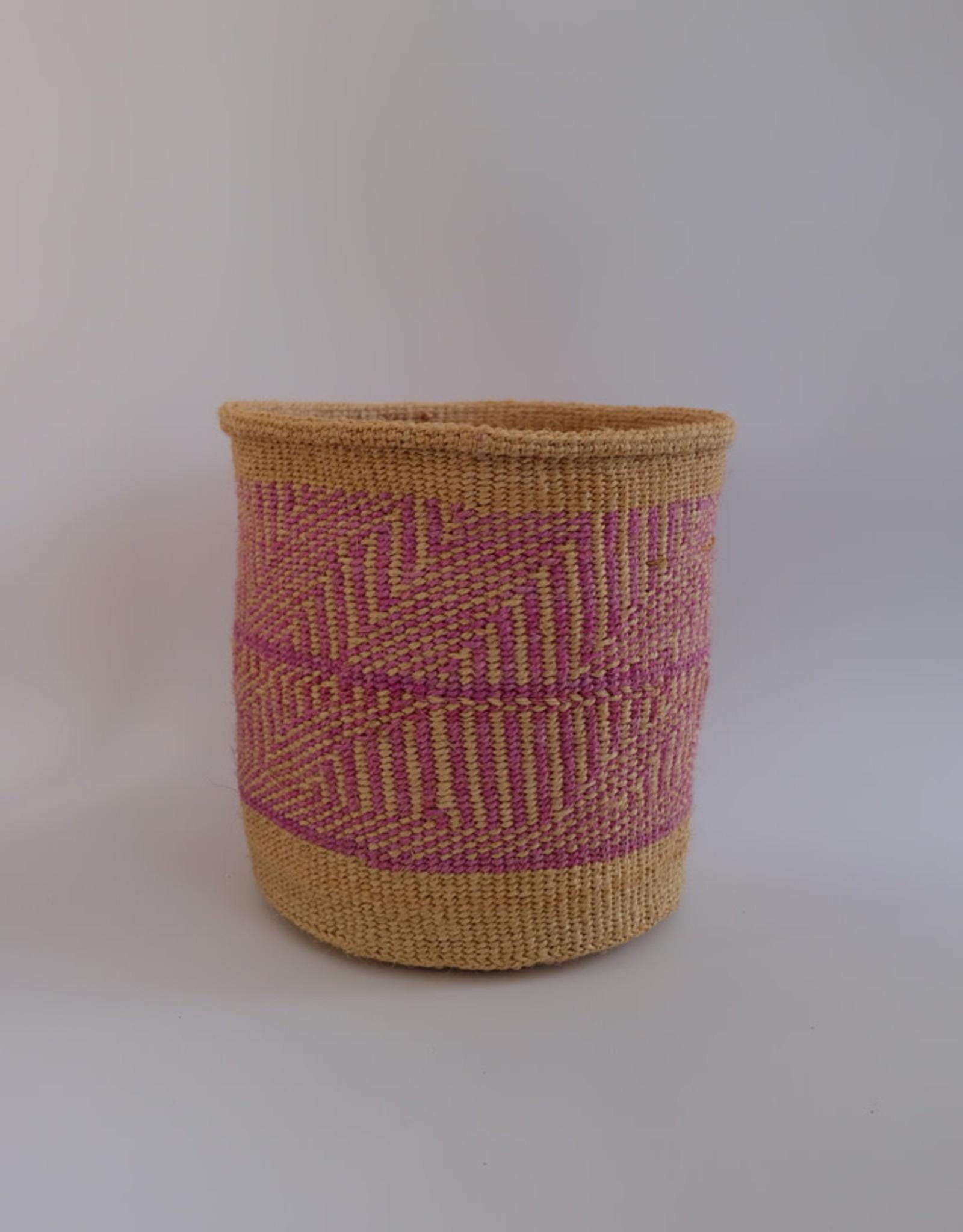 Solid Crafts Hadithi Basket M - pink by Elizabeth