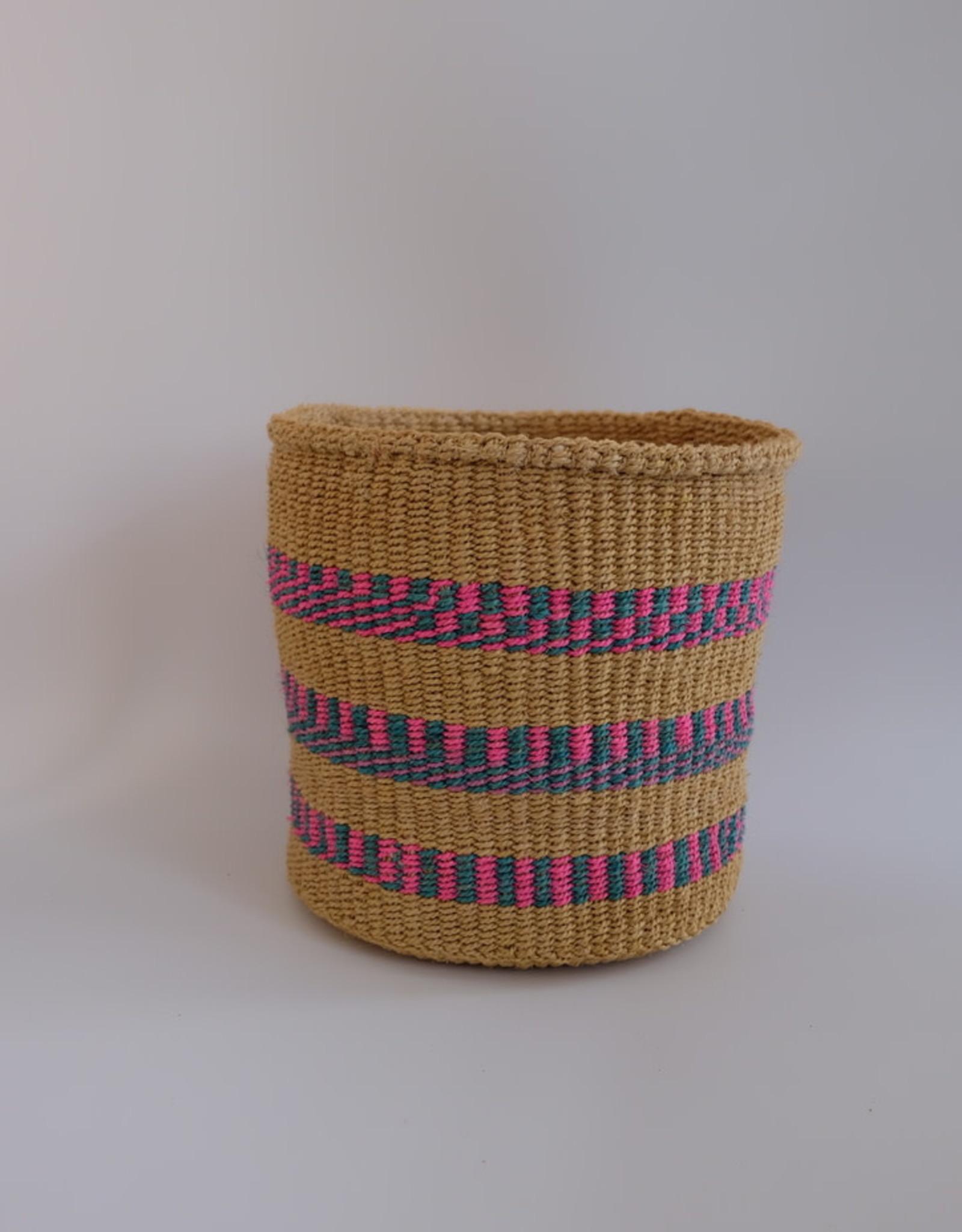 Solid Crafts Hadithi Basket M - pink & blue by Rose