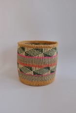 Solid Crafts Hadithi Basket M - green & pink by Gladness