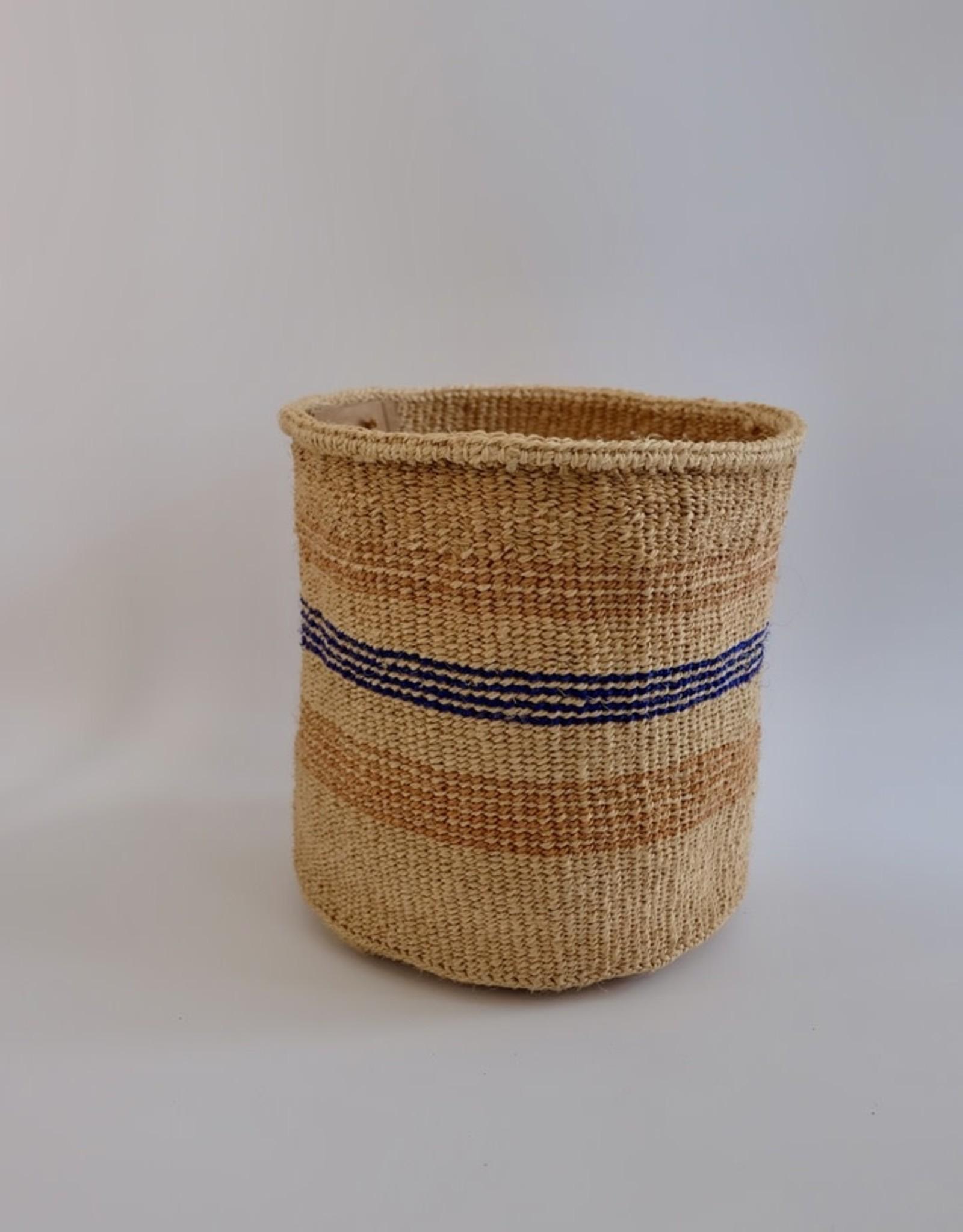 Solid Crafts Hadithi Basket M - blue & sand by Rachel