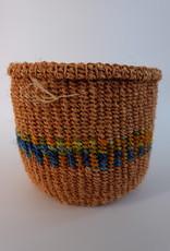 Solid Crafts Hadithi Basket XS - blue & orange by Abigael