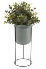 GRUUN Bloempot op standaard Ø17 h19 cm (totaal h32 cm) - Jade