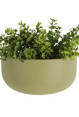 pt Wall Pot Oval Olive Green 10 x 10.8 x 9.5 cm