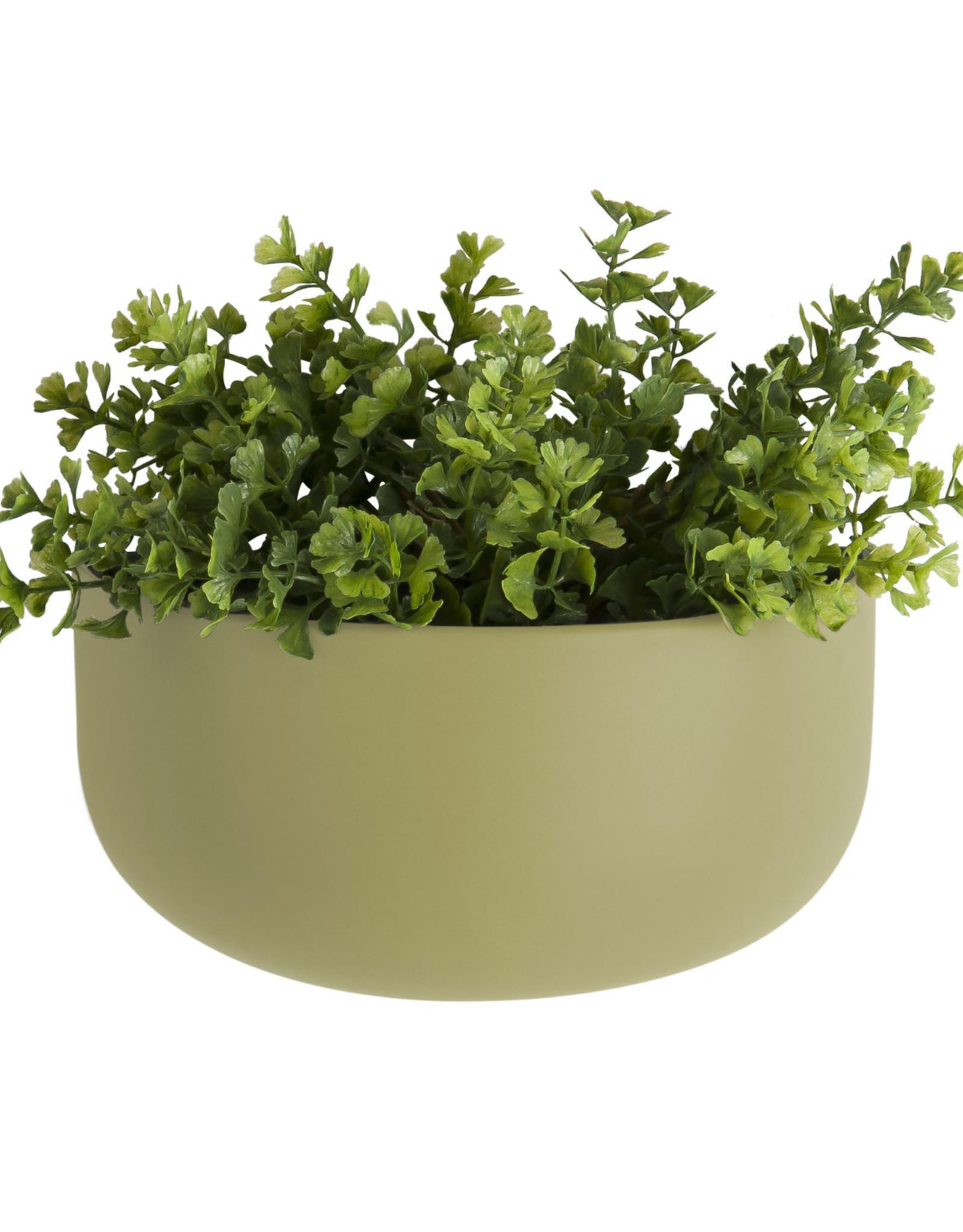 pt Wall Pot Oval Ø7x16 h10.5 cm - Olive Green