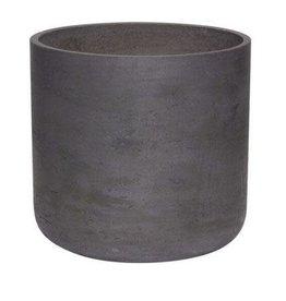 Hübsch Pot w/hole, cement, black ø25xh24