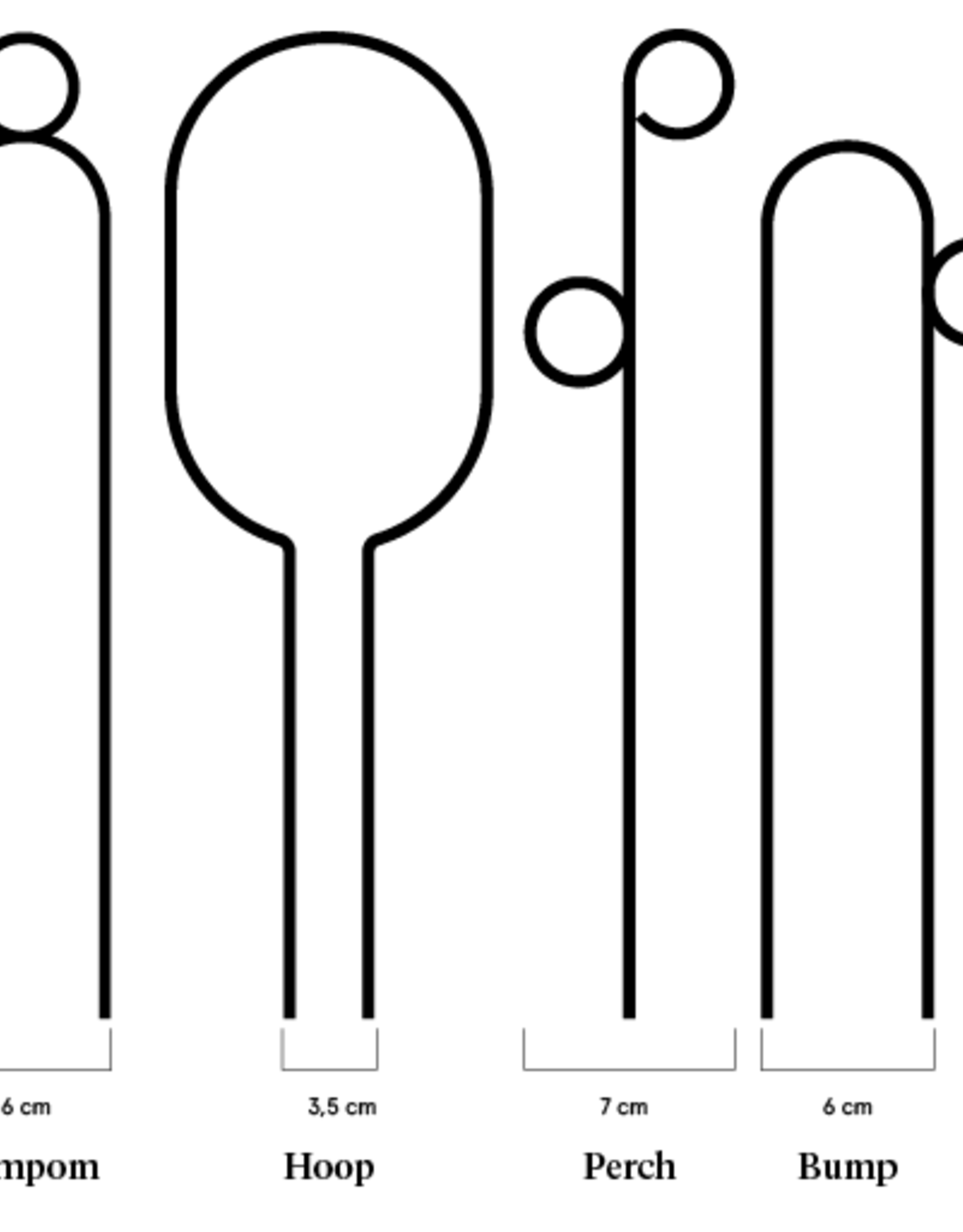 Botanopia Black Plant Stake Mini - Pompom