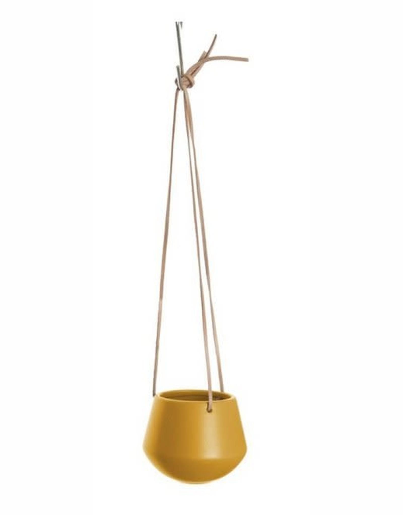 pt Skittle hangpot Ø9 cm, lengte 66 cm - Oker geel