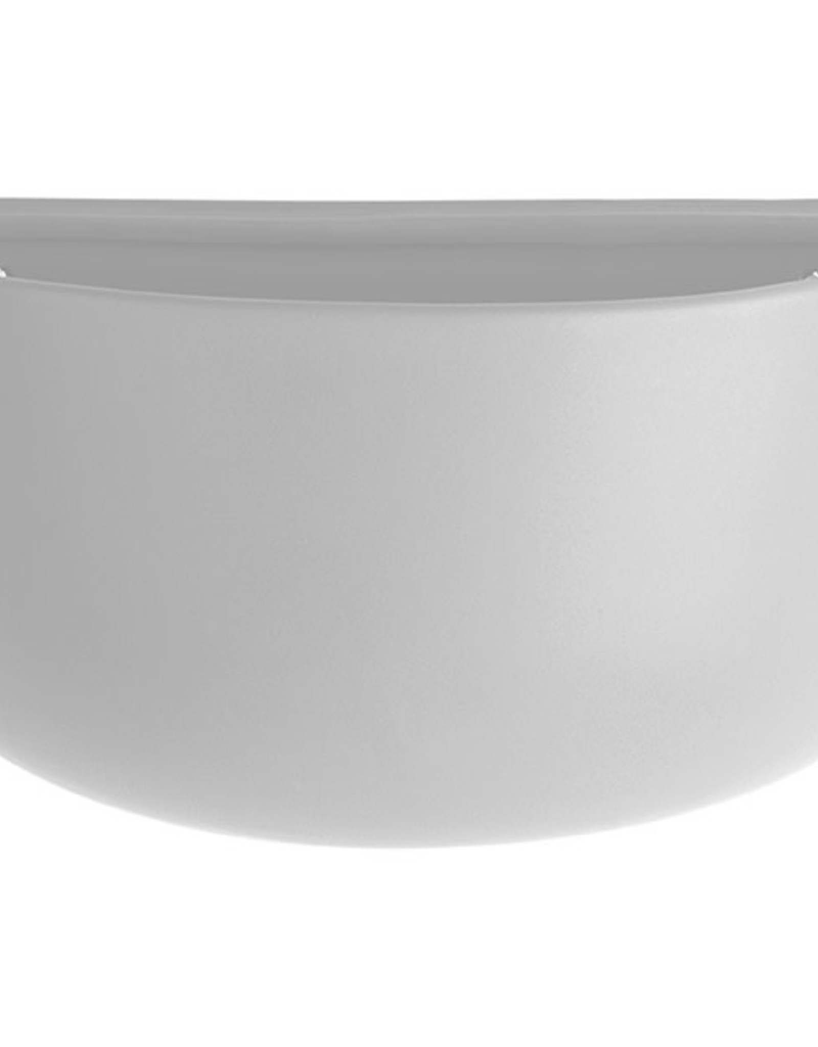 pt Wall Pot Oval Ø7x16 h10.5 cm - White