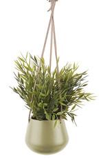 pt Skittle hanging pot Ø8.5 h9 cm - Olive green