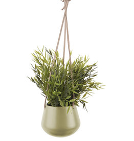 pt Skittle pot à suspendre Ø9 cm, length 66 cm - Olive green