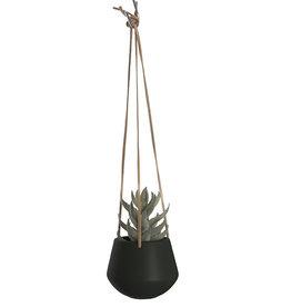 pt Skittle hangpot Ø9 cm, lengte 66 cm - Zwart