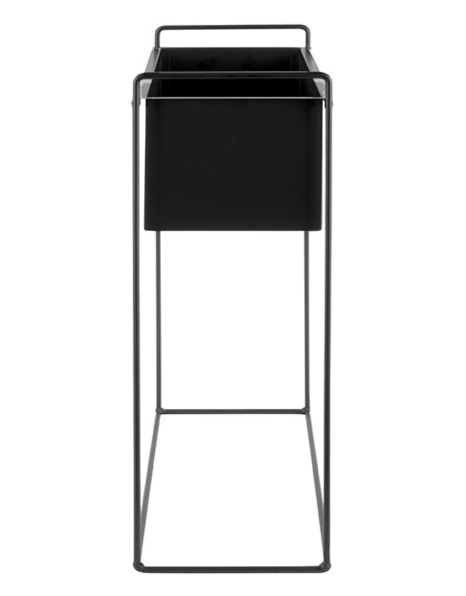 pt Ijzeren plantenbak op poten L [rechthoekig] 51 x 24 x 65 cm - Zwart