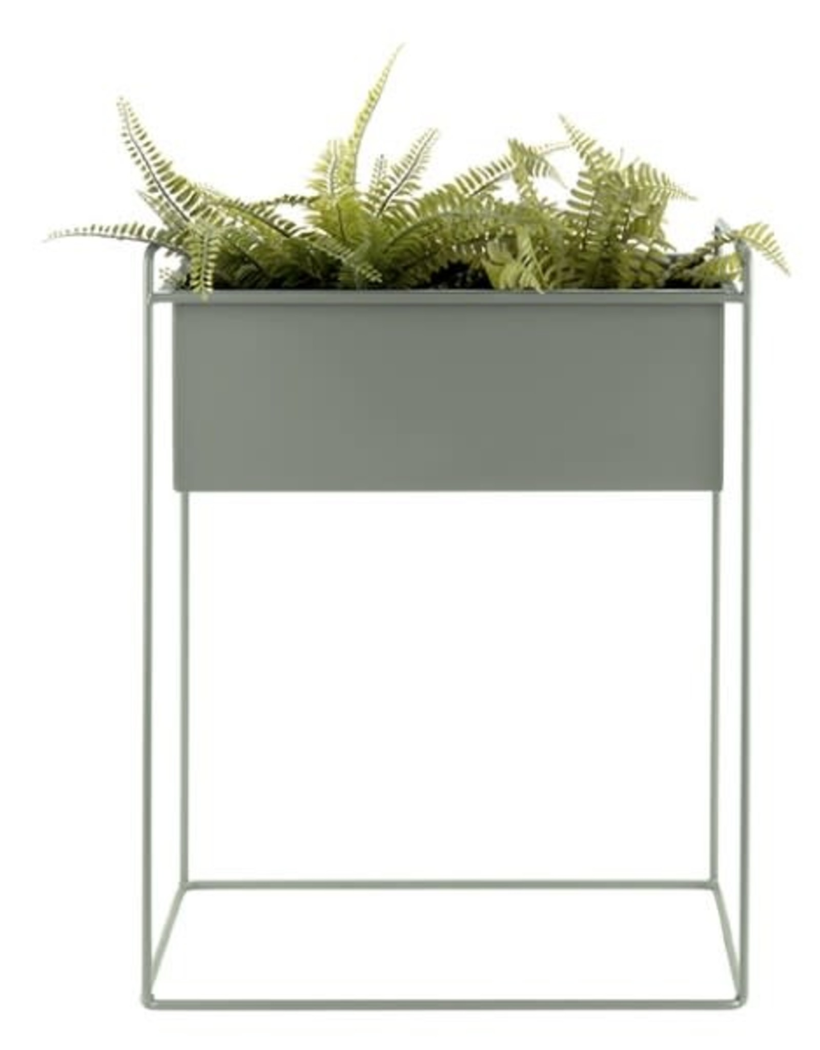 pt Ijzeren plantenbak op poten M [rechthoekig] 43 x 18,5 x 55 cm - Jungle groen