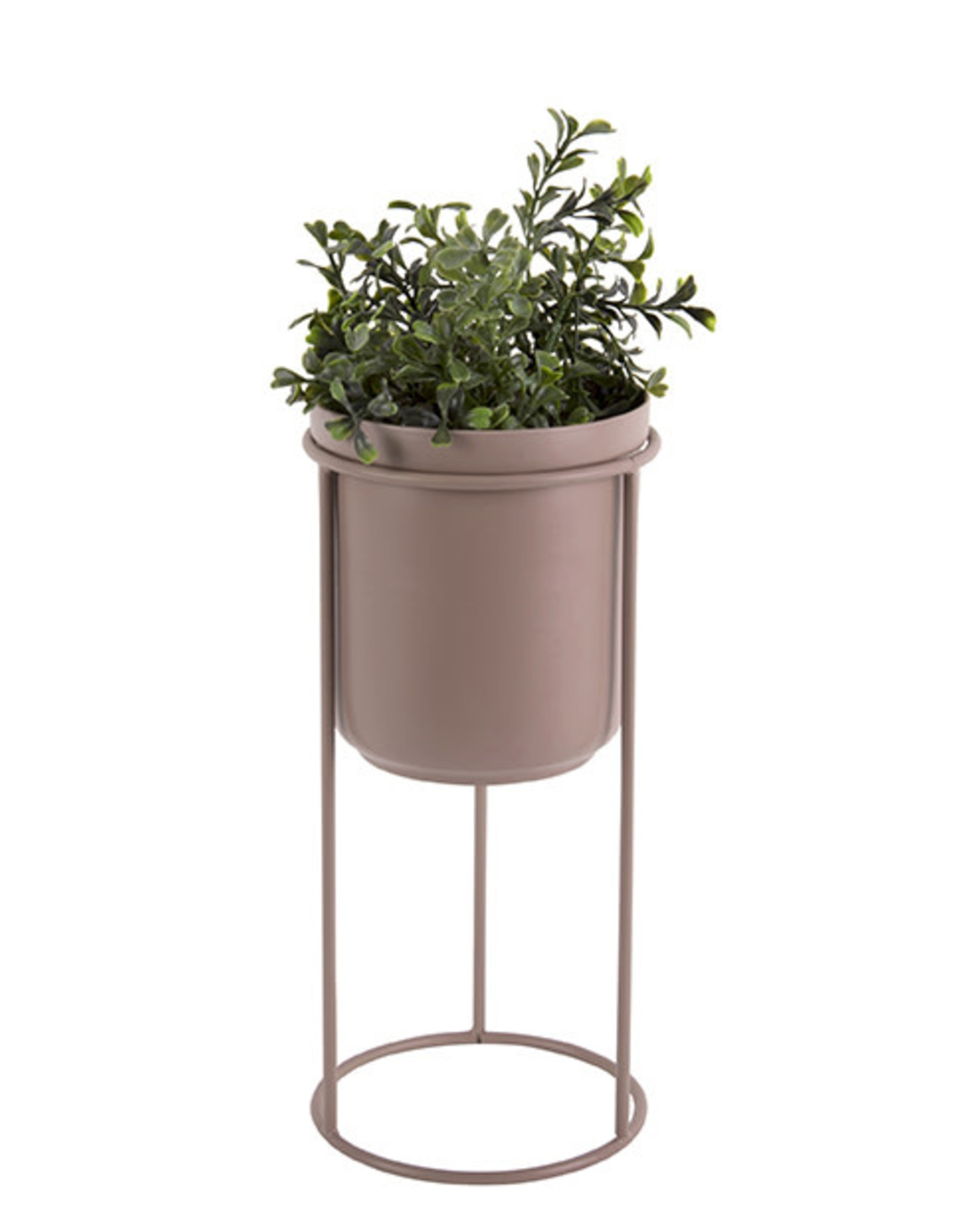 pt Tub on stand Ø17 h19 cm (total h32 cm) - Faded pink