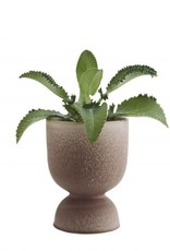 Madam Stoltz Stoneware flower pot Ø16 x 23 cm - Brown